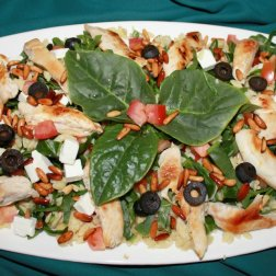 orzo, chicken and spinach salad