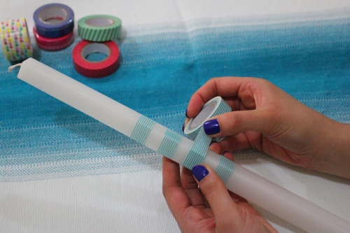 how to decorate the palm sunday candle – DIY – step by step
