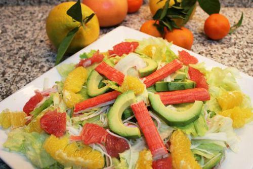 tangy crab salad