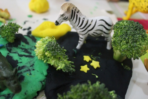 jungle playdough