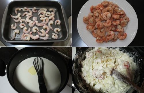 creamy shrimp tagliatlle