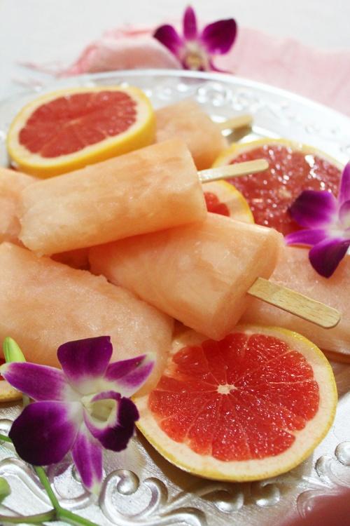 pink grapefruit popsicles