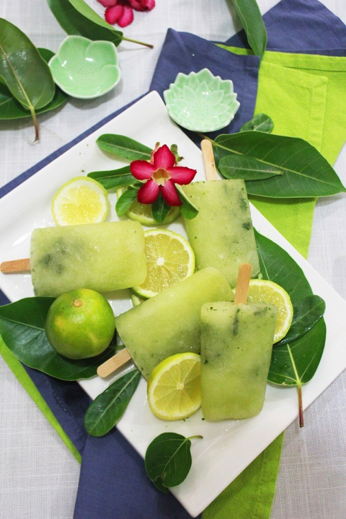 minted lemon popsicles