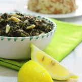 spinach with rice / sbenigh w riz