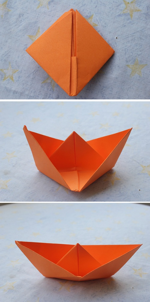 paper boats tutorial