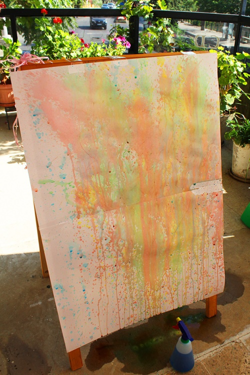 chalk spray art