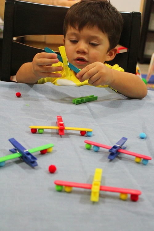 clothespin airplanes