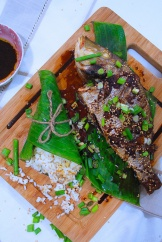 roast fish in sesame ginger marinade