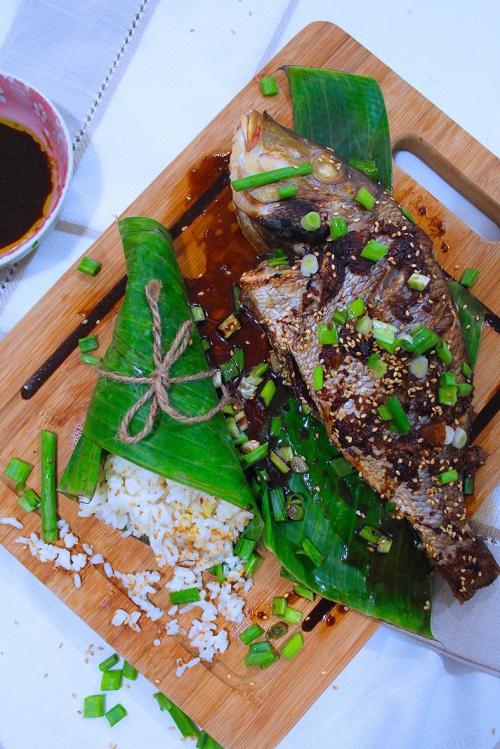 roast fish in sesame ginger marinade