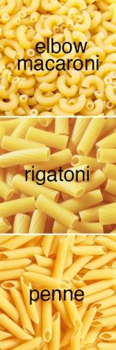 tubular pasta