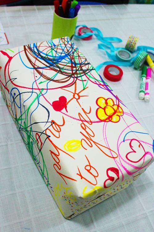 DIY birthday gift wrap