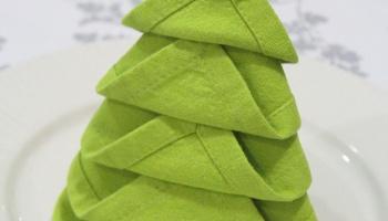 napkin folding christmas tree