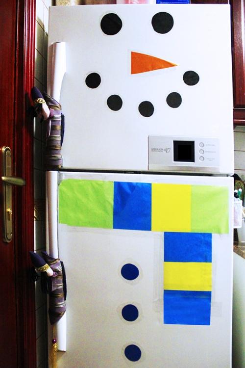fridge snowman