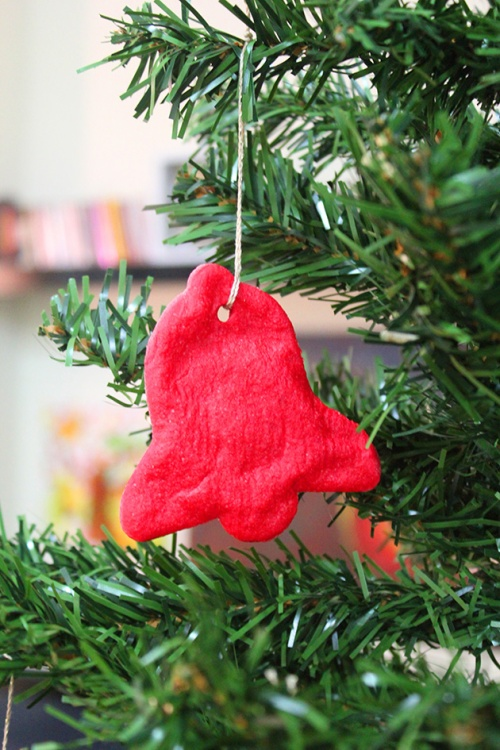 handmade bell ornament