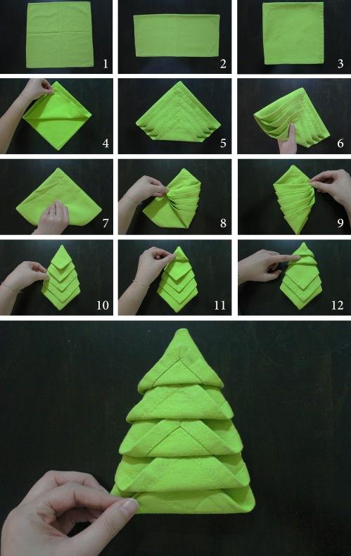 Как сделать своими руками ёлочку из салфеток