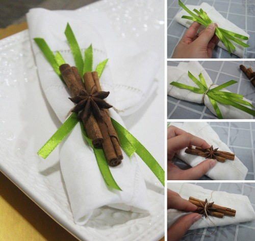 how to do cinnamon and star anise napkin ring