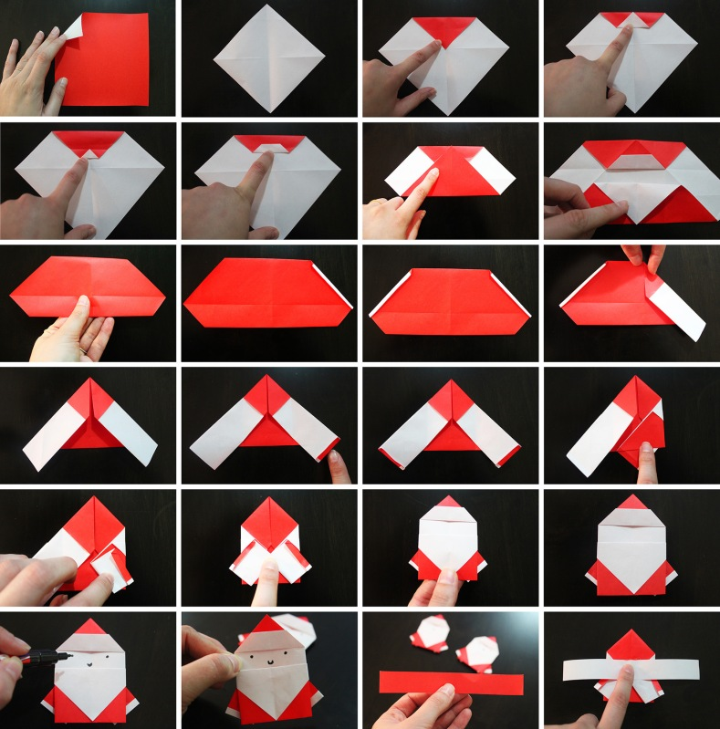 How To Do Santa Origami Marmite Et Ponpon