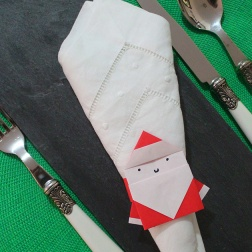 origami santa-napkin ring