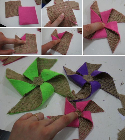how to do a pinwheel flower