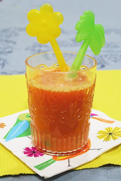 carrot banana mandarine smoothie