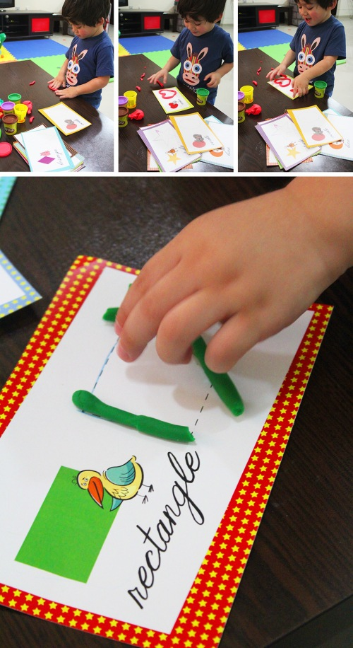 playdough tracing 1