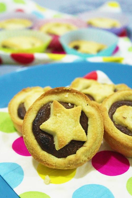 star chocolate tart