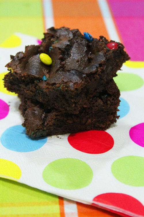 brownies and M&M