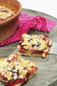 strawberry jam crumble tart