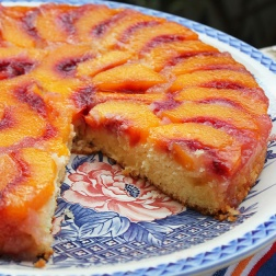 upside down peach cake