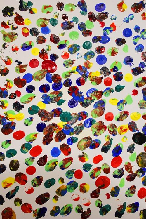 fingerprint art project