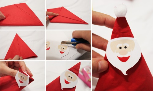 how to do santa napkin