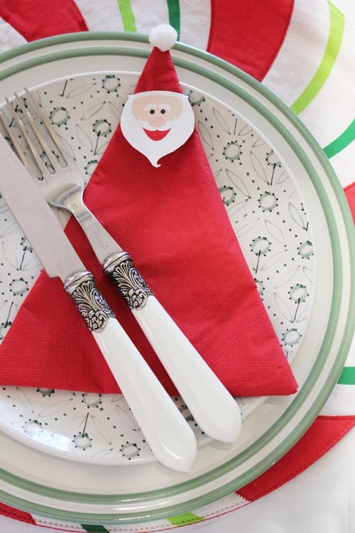 santa napkin - DIY