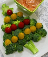 broccoli christmas tree appetizer