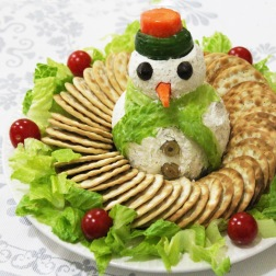 cheese snowman