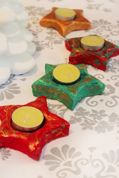 christmas candle holder - DIY