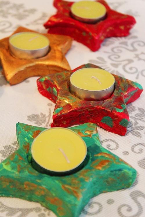 christmas candle holder - DIY