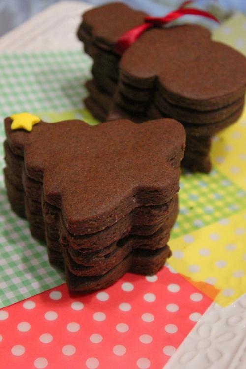 Christmas chocolate sugar cookie