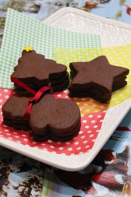 christmas chocolate sugar cookies