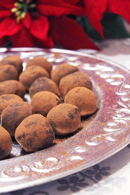 dark chocolate & whiskey truffles