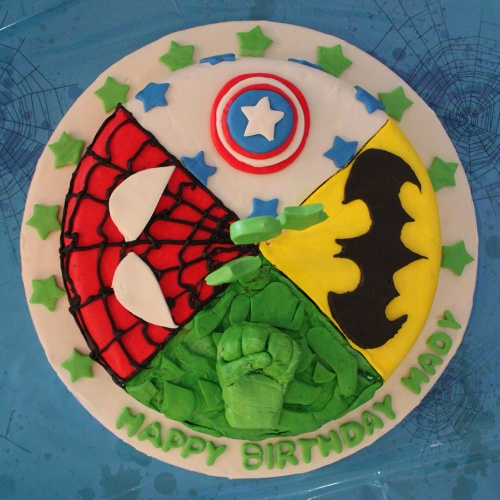 super hero cake tutorial