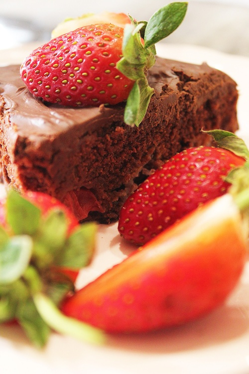 chocolate strawberry cake 3