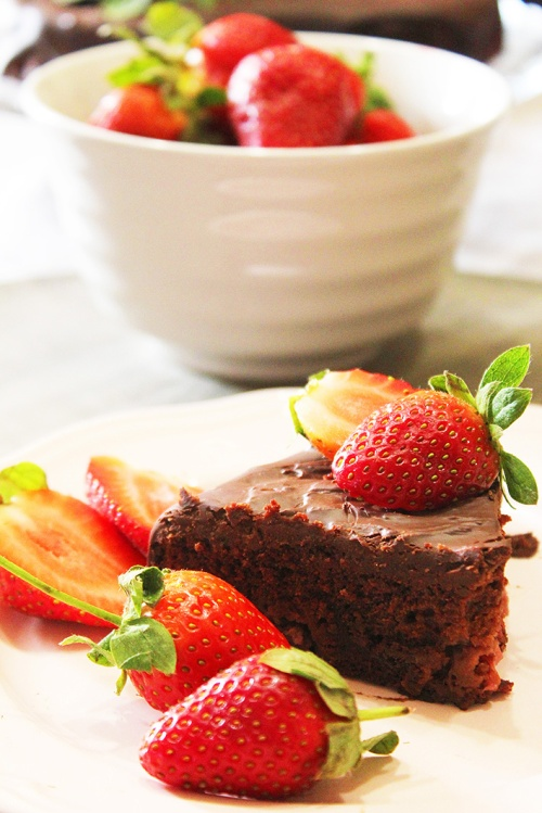 chocolate strawberry cake 5