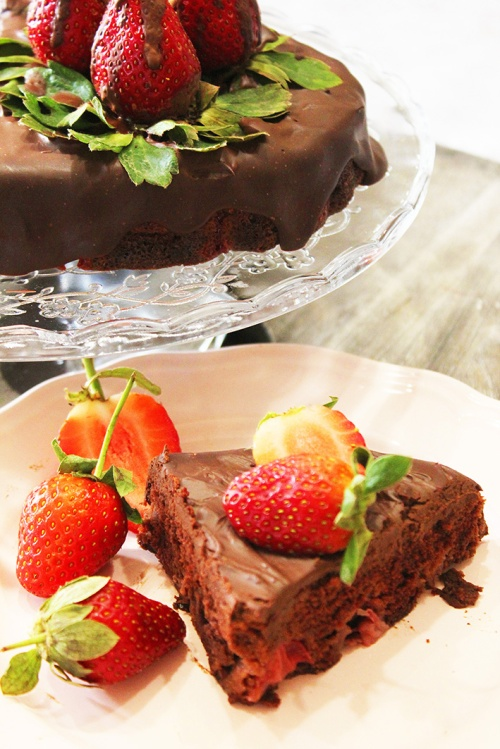 chocolate strawberry cake 7