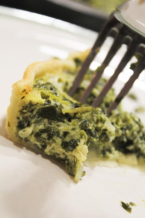 artichoke and spinach quiche |marmite et ponpon