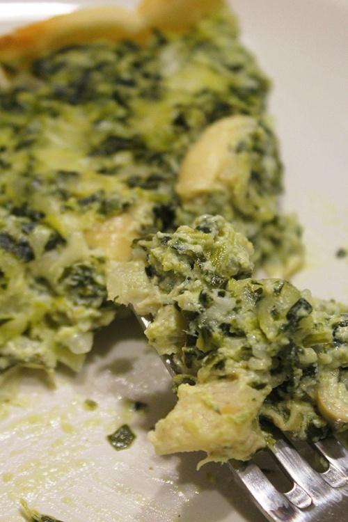 artichoke and spinach quiche|marmite et ponpon
