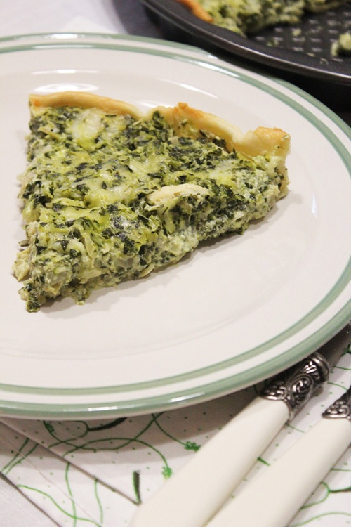 artichoke spinach quiche| marmite et ponpon