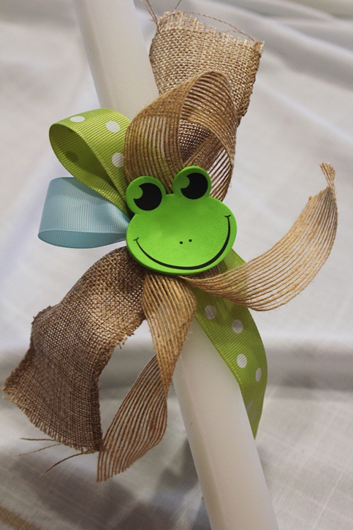 baby frog palm sunday candle |marmite et ponpon