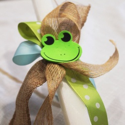 baby frog - palm Sunday candle|marmite & ponpon