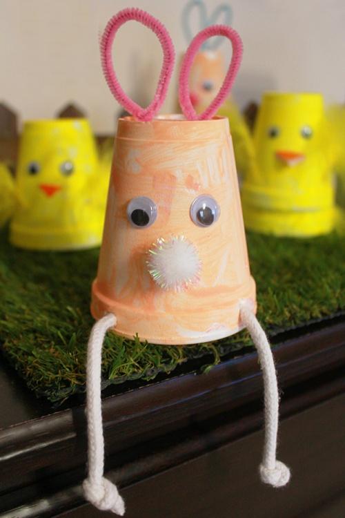 Easter bunnies & chicks cups | marmite et ponpon
