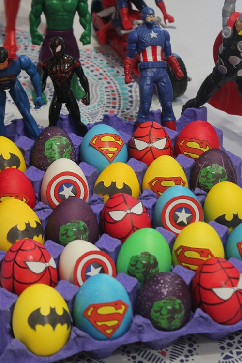 easter eggs superheroes|marmite et ponpon